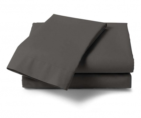 Cearsaf de pat Satin Saty Dark Grey 270x290 cm