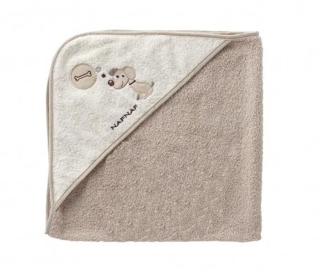 Ręcznik kąpielowy z kapturem Puppy 100x100 cm