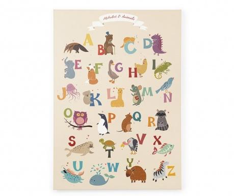 Obraz Alphabet 50x70 cm