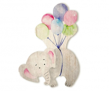Decoratiune de perete Flying Elephant
