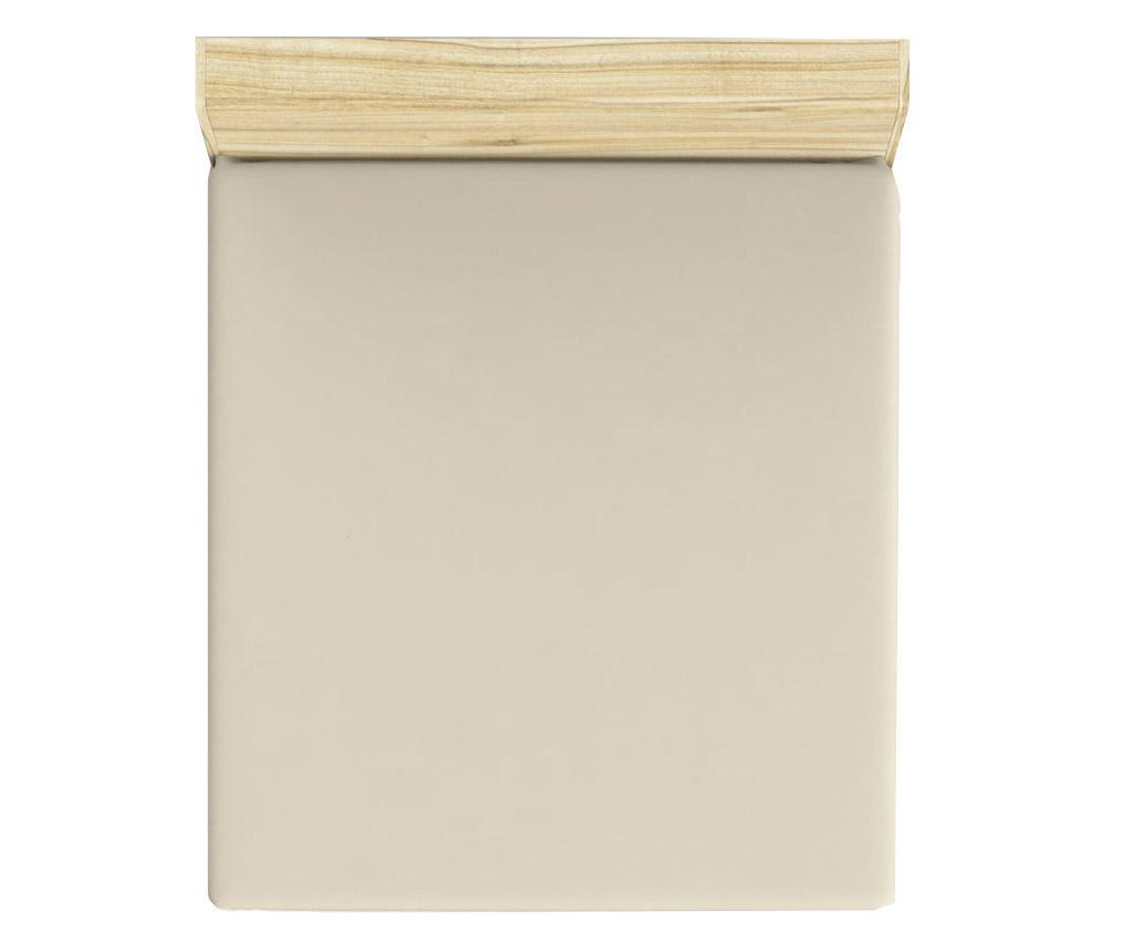 Cearsaf de pat cu elastic Mini Cream 180x200 cm - Patik, Crem