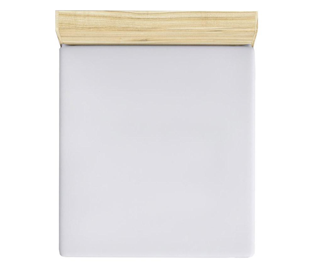 Cearsaf de pat cu elastic Mini White 180x200 cm - Patik, Alb