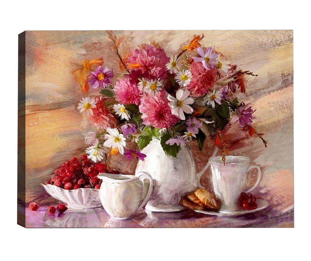 Tablou Afternoon Tea 50x70 cm - Tablo Center, Multicolor
