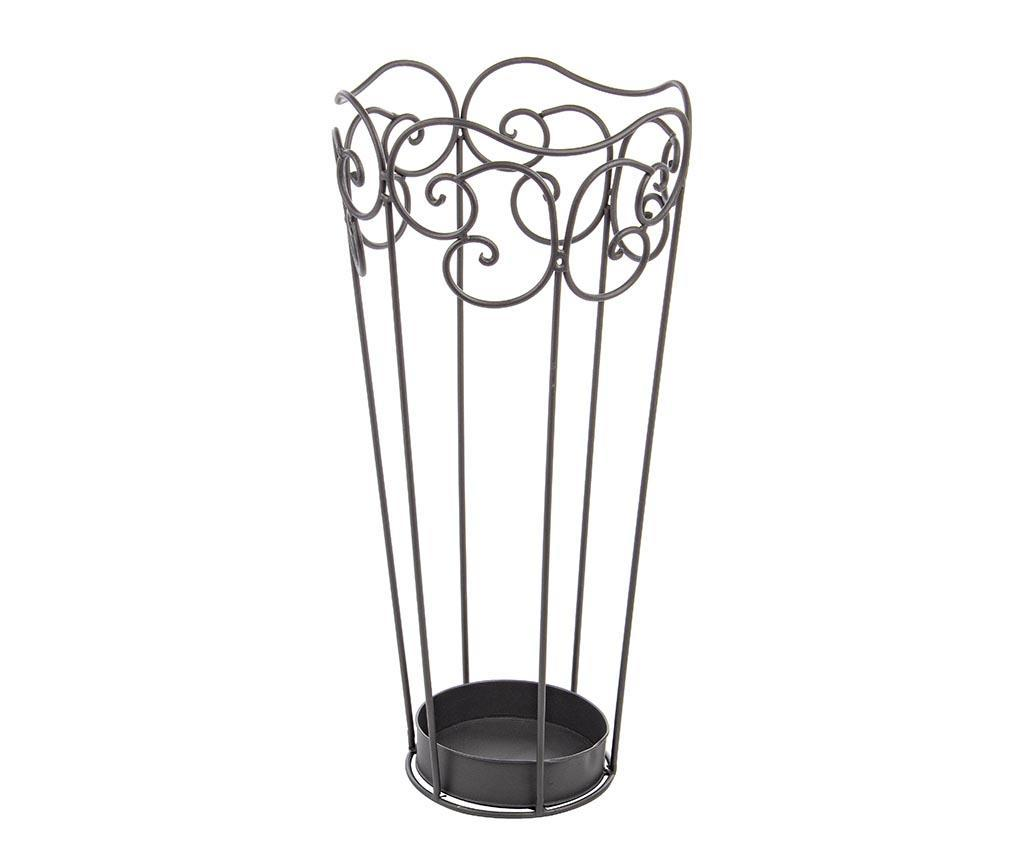 Suport pentru umbrele Charlotte Charcoal - Bizzotto, Gri & Argintiu