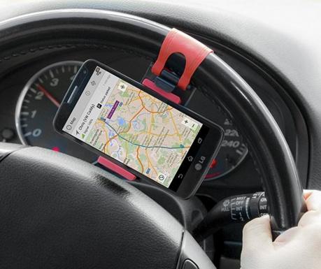 Suport auto pentru telefonul mobil Steering Wheel