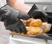 Set - 2 vilici za meso, 2 kuhinjski rokavici in čopič za mazanje Claws