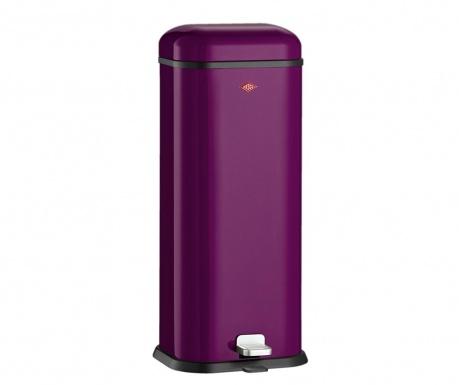 Kosz na śmieci z pokrywą i pedałem Superboy Purple 20 L