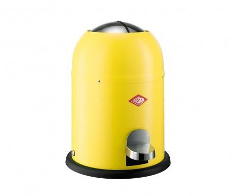 Odpadkový koš s víkem a pedálem Single Master Yellow 9 L