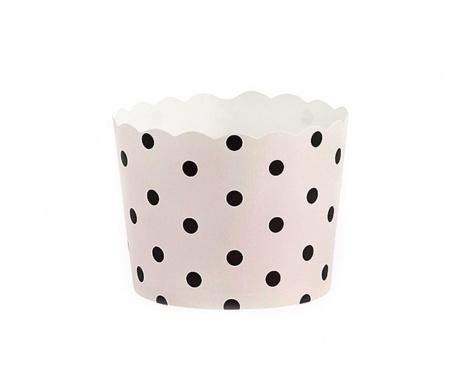 Black Dots 24 db Muffin papír sütőforma