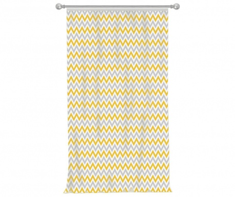 Zastor Chevron Grey Yellow 140x270 cm