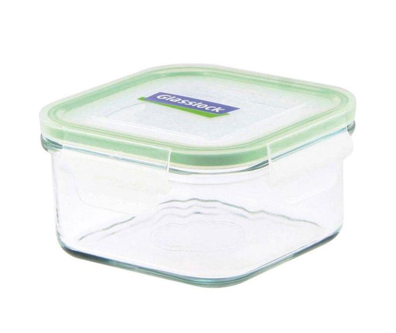 Posuda s hermetičkim poklopcem Compact Classic Square Green 490 ml