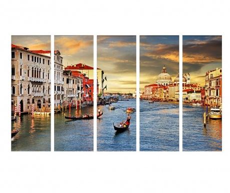 Set 5 slik Sunrise Venice  30x90 cm