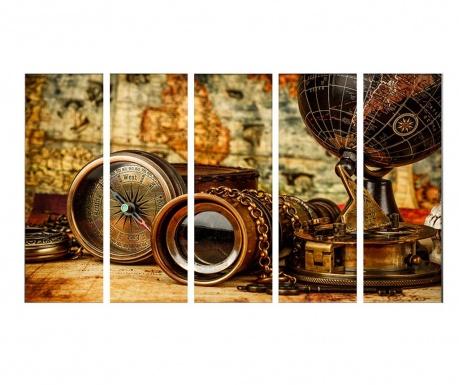 Set 5 slika Traveler 30x90 cm