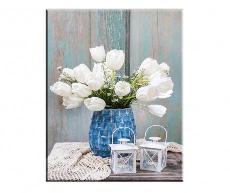 Slika Tulips Blanco 100x140 cm