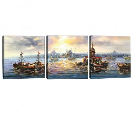 Комплект 3 картини Sunny Vibe 30x30 см