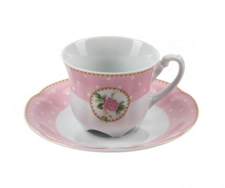 Комплект чашка и чинийка Bolero Rosa