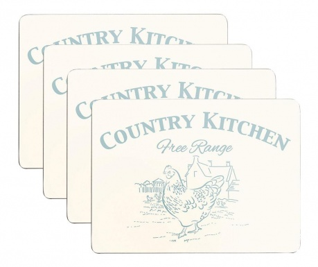 Set 4 individualuri Country Kitchen 22x29 cm