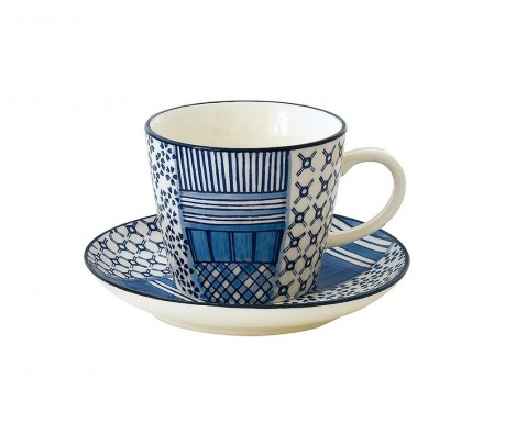 Set šalica i tanjurić Art and Craft Blue
