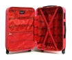 Bucharest Red 3 db Gurulós bőrönd