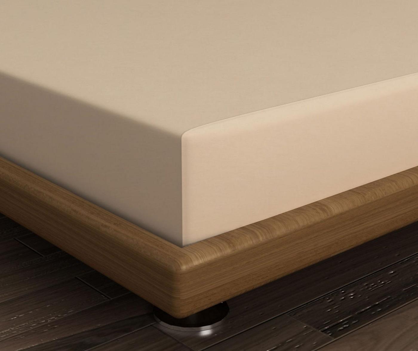 Cearsaf de pat cu elastic Mini Beige 90x190 cm