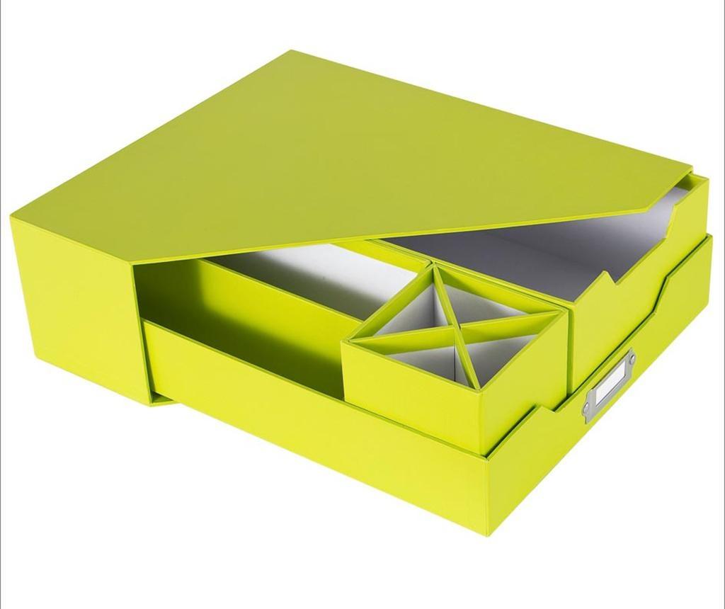 5-delni set za organiziranje Opaco Green