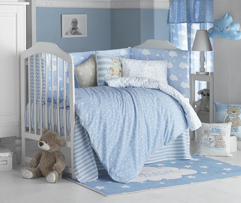 Posteljnina za otroško posteljico Ranforce Clouds Blue