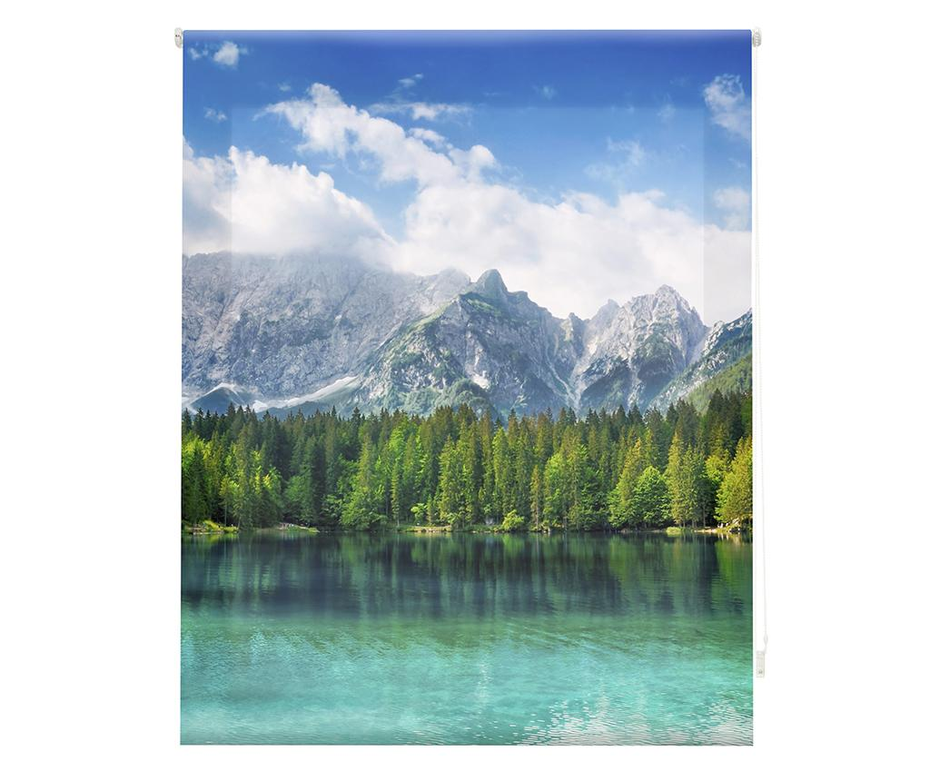 Jaluzea tip rulou Mountain Air 100x180 cm - Blindecor, Albastru,Verde