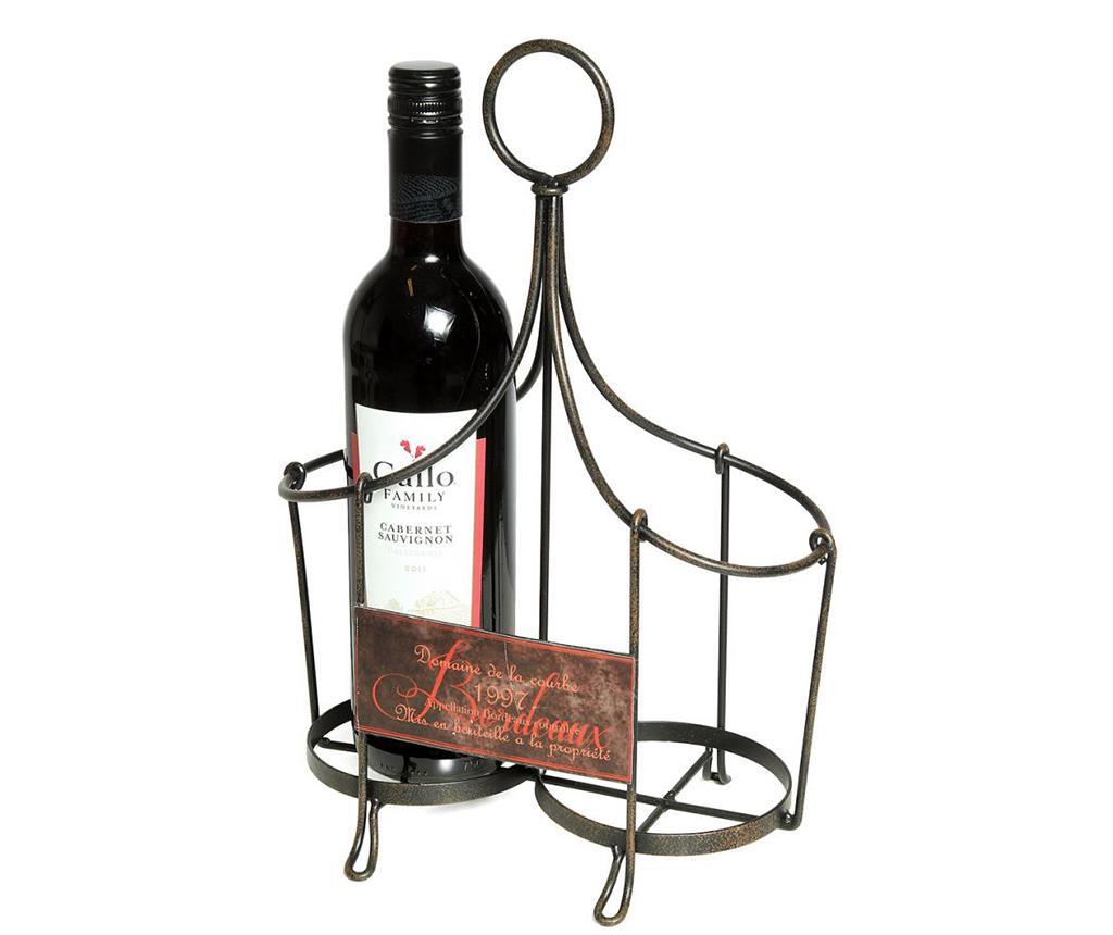 Suport pentru sticle Bordeaux - Ambiente Haus, Gri & Argintiu