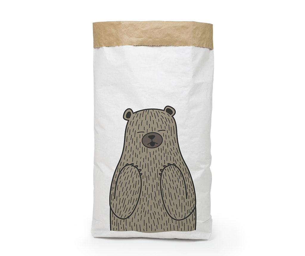Sac de hartie Bear - The Wild Hug, Alb