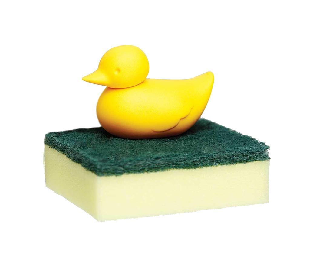 Suport pentru burete de vase Duck Yellow - Qualy, Galben & Auriu