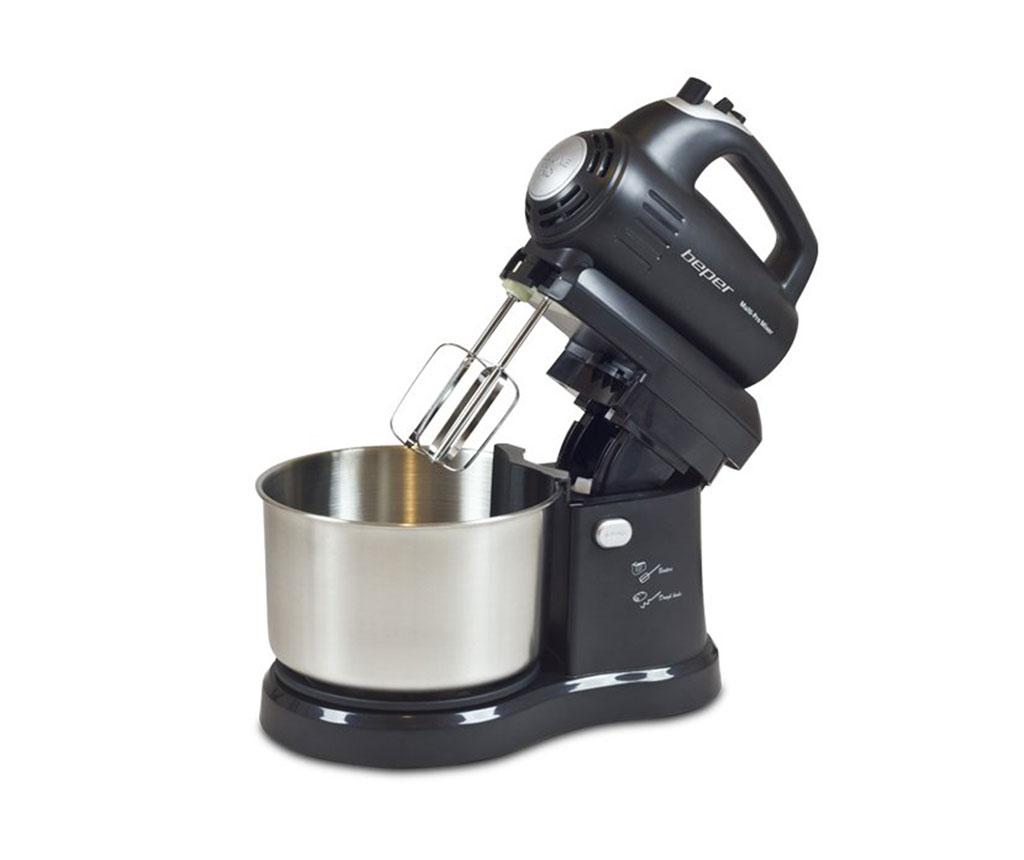 Mixer cu bol rotativ Rotation - Beper, Gri & Argintiu,Negru,Multicolor