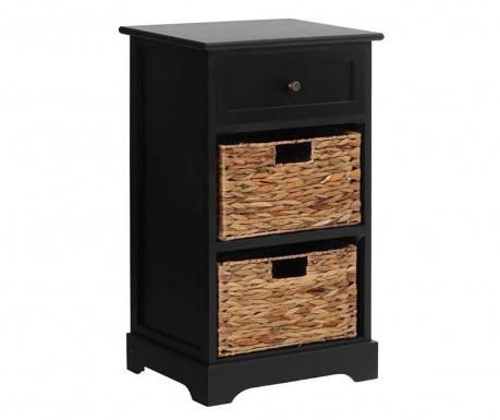 Шкафче с 2 коша и 1 чекмедже Vermont Hyacinth Black