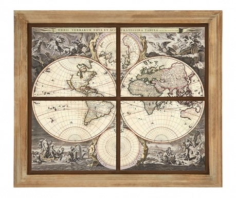 Obraz World Map 110x124 cm