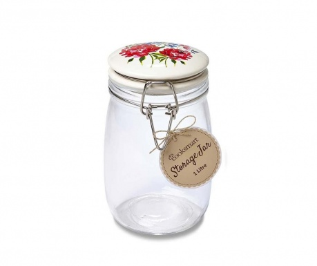 Floral Romance Befőttesüveg hermetikus fedővel 1 L