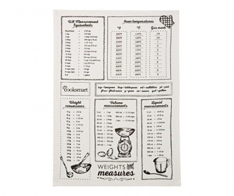 Prosop de bucatarie Weights and Measures 45x65 cm