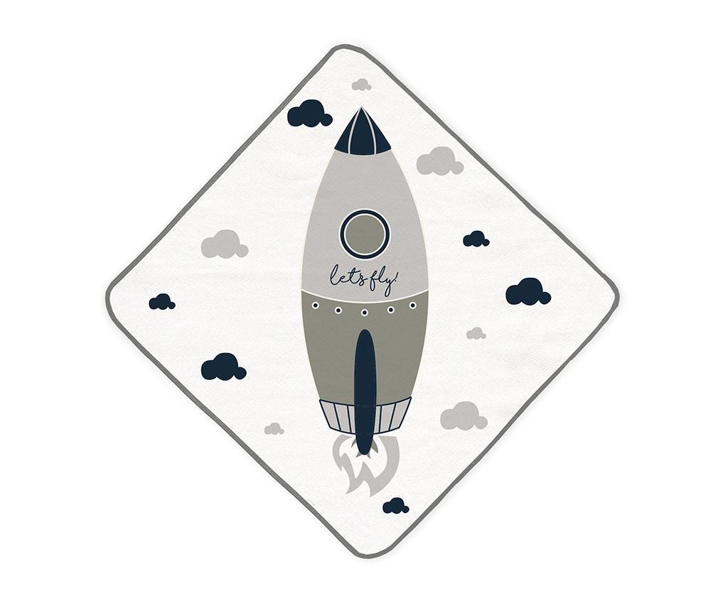 Let's Fly Kapucnis fürdőszobai törölköző 68x68 cm
