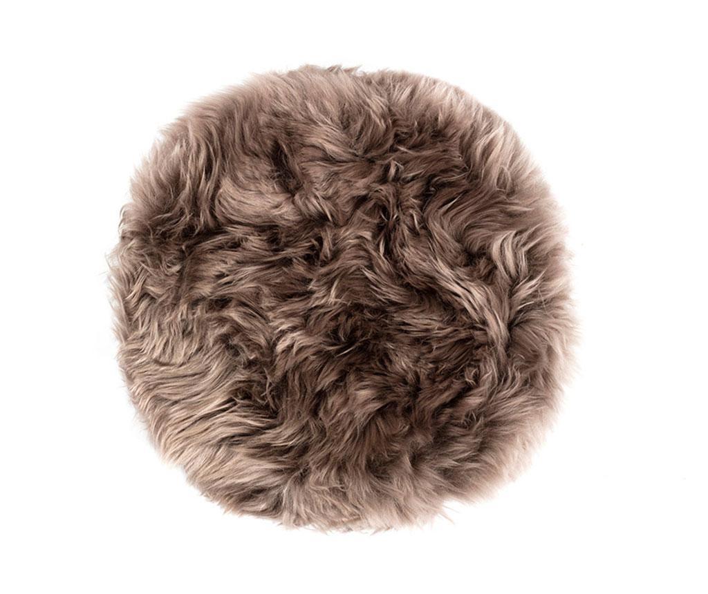 Fluffy Round Taupe Ülőpárna 35 cm