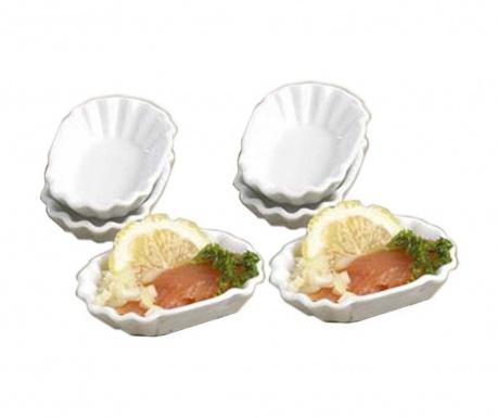 Set 4 boluri pentru aperitive Shell Oval 23 ml