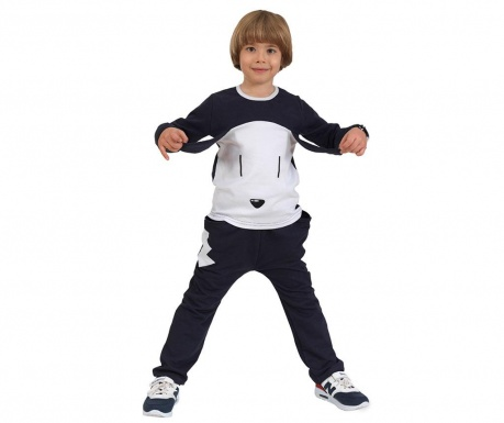 Set dječja bluza i hlače Dog With Ear Baggy Navy-Blue