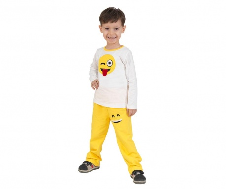 Sada triko a kalhoty pro děti Smile Baggy Yellow