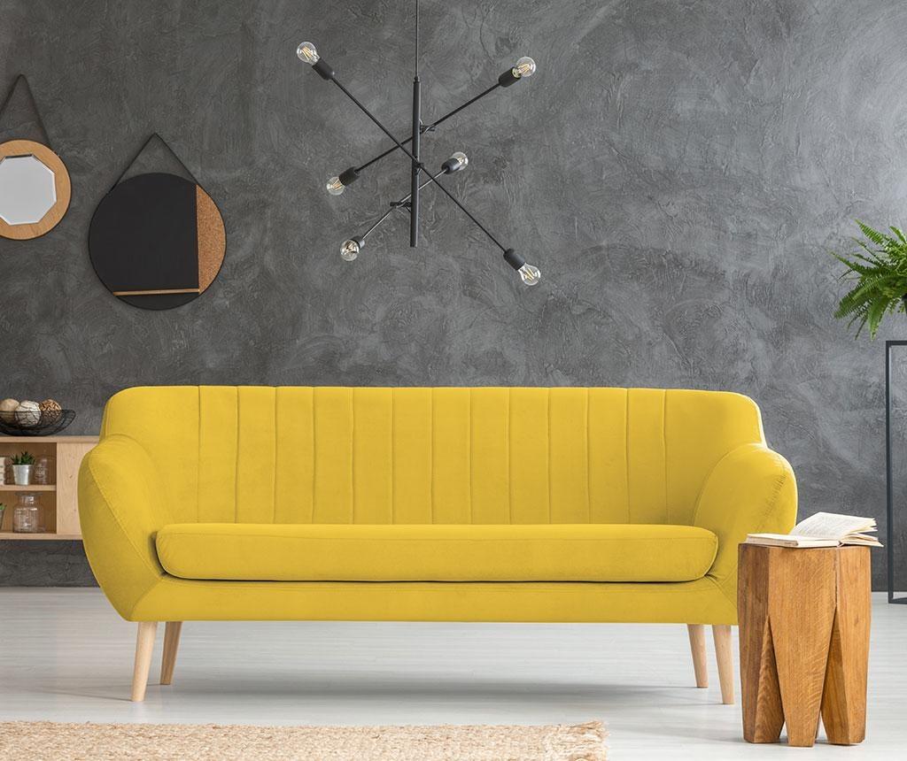 Canapea 3 locuri Sardaigne Yellow