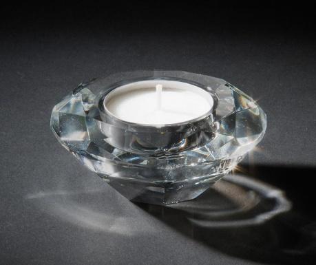 Podstavec na svíčku Luxury Diamond Round