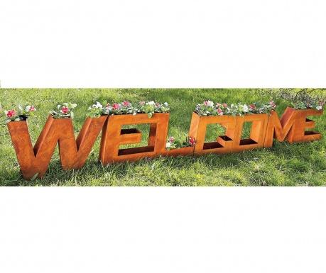 Sada 4 kvetináčov Welcome