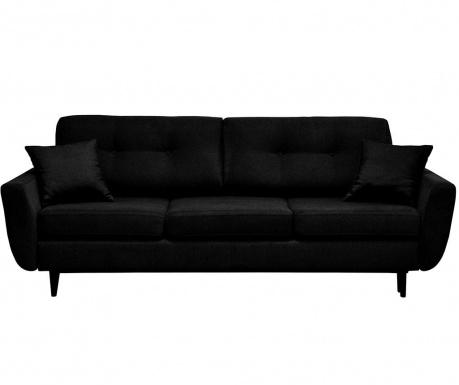 Canapea extensibila 3 locuri Jasmin Black