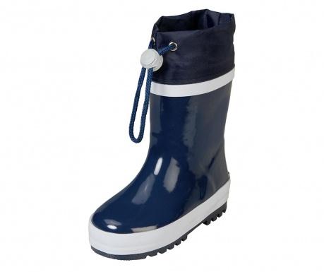 Cizme de ploaie copii Warm Navy and White 30-31