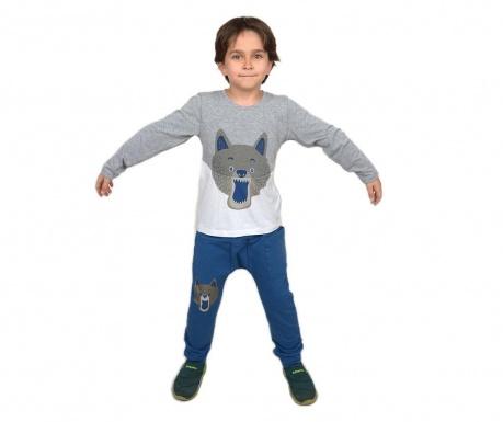 Otroški komplet - majica in hlače Wolf Baggy Grey