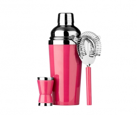 3-delni set za koktajle Hot Pink