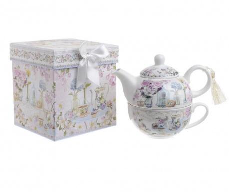 Set ceainic cu ceasca Caprice Flowers