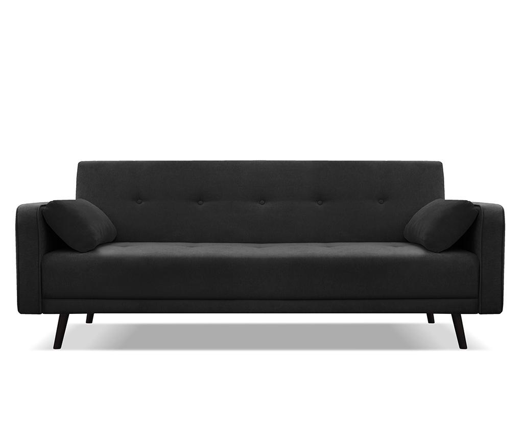 Canapea Extensibila Negru Imagine