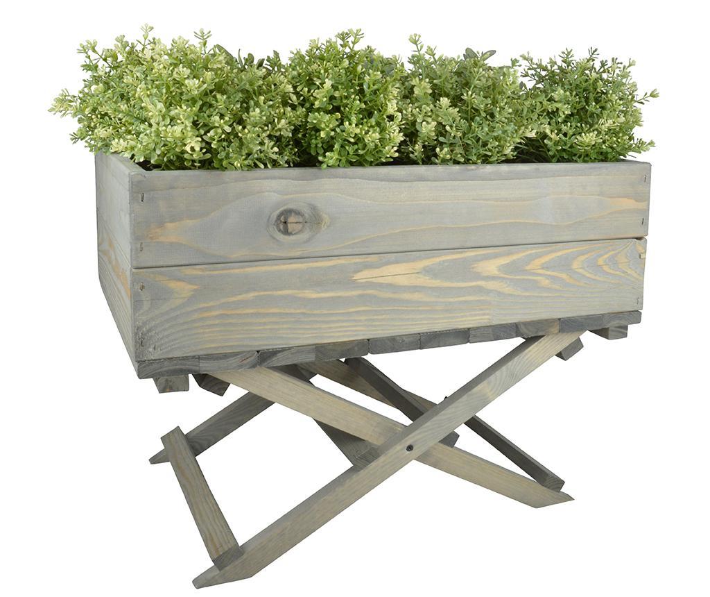 Suport pliabil pentru jardiniera Flora - Esschert Design, Gri & Argintiu